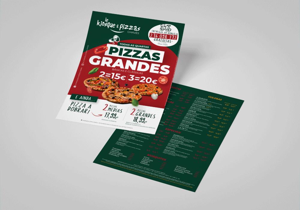 Le Kiosque à Pizza Chaves Flyer Design