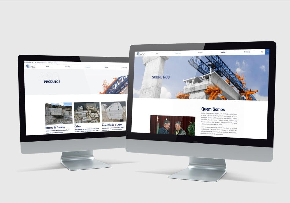 ASG - Granito e Construções Web Site Web Design Brand 22 Creative Agency