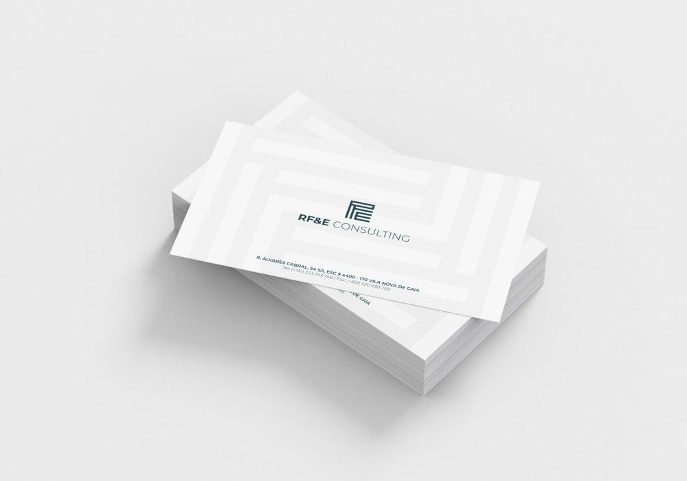 RF&E Consulting Cartão de visita Design