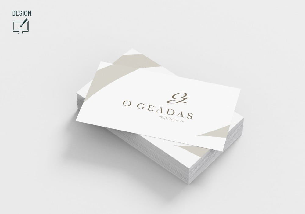 Restaurante Geadas Logo Brand 22 Creative Agency Design Cartão de visita Business Card