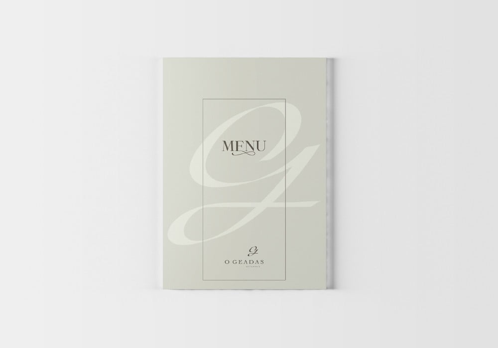 Restaurante Geadas Brand 22 Creative Agency Design Ementa Menu