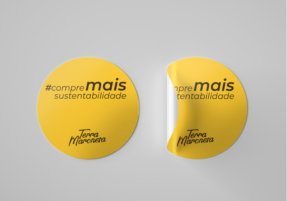 Terra Maronesa #compremaissustentabilidade Brand 22 Creative Agency Sticker Selo Design