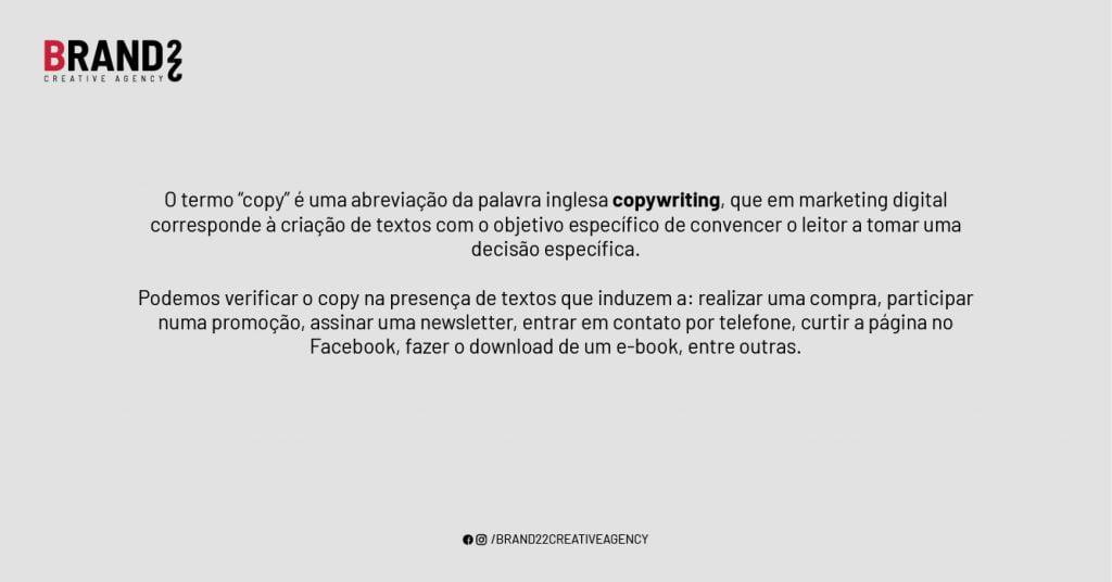 O que é copy no Marketing Digital?